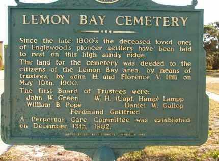 *LEMON BAY, SIGN - Sarasota County, Florida   SIGN *LEMON BAY - Florida Gravestone Photos
