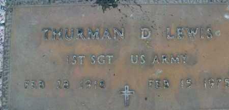 LEWIS, THURMAN  D. - Sarasota County, Florida   THURMAN  D. LEWIS - Florida Gravestone Photos