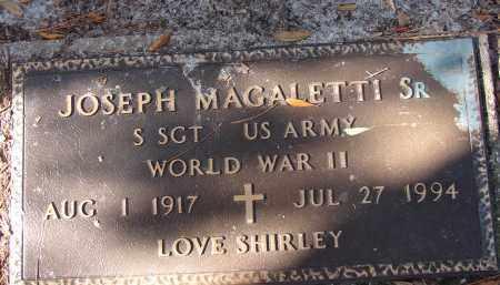 MAGALETTI, SR (VETERAN WWII), JOSEPH - Sarasota County, Florida | JOSEPH MAGALETTI, SR (VETERAN WWII) - Florida Gravestone Photos