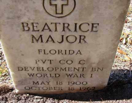 MAJOR (VETERAN WWI), BEATRICE - Sarasota County, Florida | BEATRICE MAJOR (VETERAN WWI) - Florida Gravestone Photos