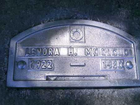 MCCLOUD, LENORA H. - Sarasota County, Florida | LENORA H. MCCLOUD - Florida Gravestone Photos