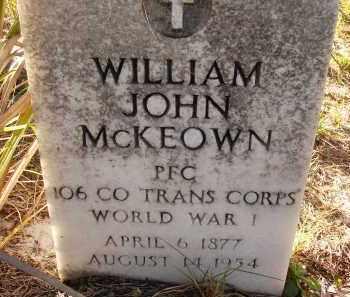 MCKEOWN (VETERAN WWI), WILLIAM JOHN (NEW) - Sarasota County, Florida | WILLIAM JOHN (NEW) MCKEOWN (VETERAN WWI) - Florida Gravestone Photos