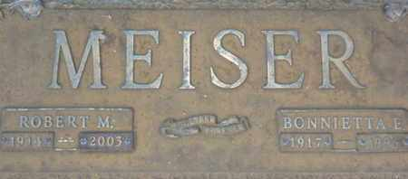 MEISER, BONNIETTA E. - Sarasota County, Florida   BONNIETTA E. MEISER - Florida Gravestone Photos