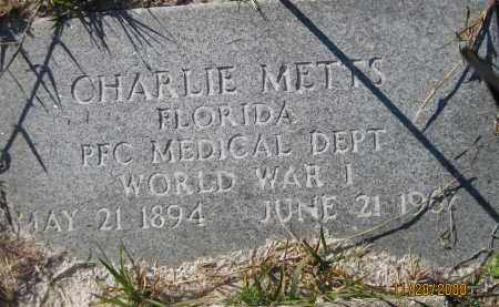 METTS (VETERAN WWI), CHARLIE (NEW) - Sarasota County, Florida | CHARLIE (NEW) METTS (VETERAN WWI) - Florida Gravestone Photos