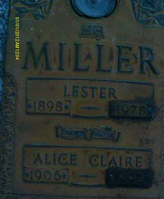 MILLER, ALICE CLAIRE - Sarasota County, Florida   ALICE CLAIRE MILLER - Florida Gravestone Photos