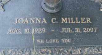 MILLER, JOANNA C. - Sarasota County, Florida   JOANNA C. MILLER - Florida Gravestone Photos