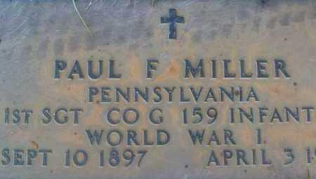 MILLER, PAUL  F. - Sarasota County, Florida   PAUL  F. MILLER - Florida Gravestone Photos