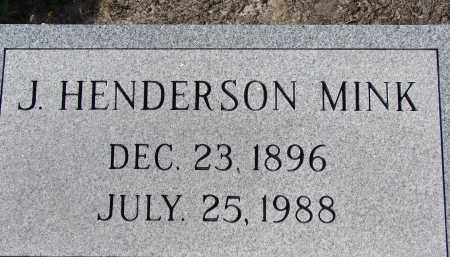 MINK, J. HENDERSON - Sarasota County, Florida | J. HENDERSON MINK - Florida Gravestone Photos