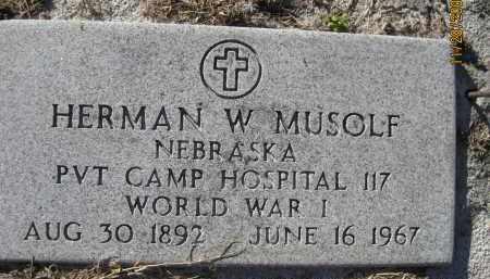MUSOLF (VETERAN WWI), HERMAN WILLIAM (NEW) - Sarasota County, Florida   HERMAN WILLIAM (NEW) MUSOLF (VETERAN WWI) - Florida Gravestone Photos