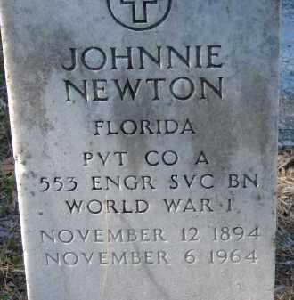 NEWTON (VETERAN WWI), JOHNNIE - Sarasota County, Florida | JOHNNIE NEWTON (VETERAN WWI) - Florida Gravestone Photos
