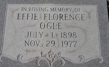 OGLE, EFFIE FLORENCE - Sarasota County, Florida | EFFIE FLORENCE OGLE - Florida Gravestone Photos