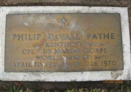 PAYNE (VETERAN WWII), PHILIP DEVALL (NEW) - Sarasota County, Florida | PHILIP DEVALL (NEW) PAYNE (VETERAN WWII) - Florida Gravestone Photos