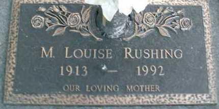RUSHING, M.  LOUISE - Sarasota County, Florida | M.  LOUISE RUSHING - Florida Gravestone Photos