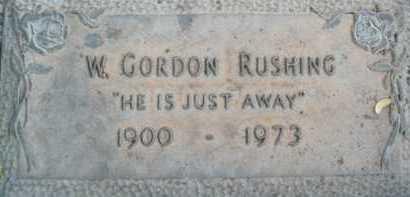 RUSHING, W.  GORDON - Sarasota County, Florida | W.  GORDON RUSHING - Florida Gravestone Photos