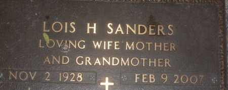 SANDERS, LOIS H. - Sarasota County, Florida | LOIS H. SANDERS - Florida Gravestone Photos
