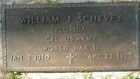 SCHEVEY (VETERAN WWII), WILLIAM J. - Sarasota County, Florida | WILLIAM J. SCHEVEY (VETERAN WWII) - Florida Gravestone Photos