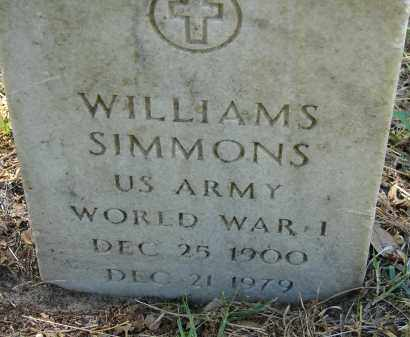 SIMMONS (VETERAN WWI), WILLIAMS - Sarasota County, Florida | WILLIAMS SIMMONS (VETERAN WWI) - Florida Gravestone Photos