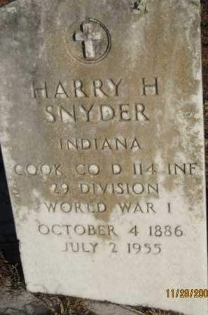 SNYDER (VETERAN WWI), HARRY H (NEW) - Sarasota County, Florida | HARRY H (NEW) SNYDER (VETERAN WWI) - Florida Gravestone Photos