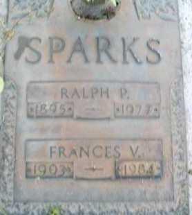 SPARKS, FRANCES  V. - Sarasota County, Florida   FRANCES  V. SPARKS - Florida Gravestone Photos