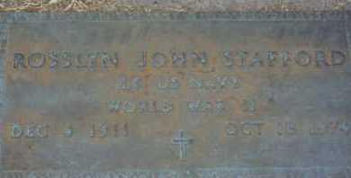 STAFFORD, ROSSLYN JOHN - Sarasota County, Florida | ROSSLYN JOHN STAFFORD - Florida Gravestone Photos