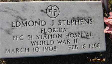 STEPHENS (VETERAN WWII), EDMOND J (NEW) - Sarasota County, Florida | EDMOND J (NEW) STEPHENS (VETERAN WWII) - Florida Gravestone Photos