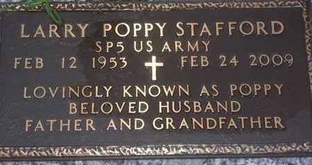 STAFFORD, LARRY POPPY - Sarasota County, Florida | LARRY POPPY STAFFORD - Florida Gravestone Photos