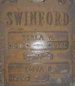 SWINFORD, LOVA B. - Sarasota County, Florida | LOVA B. SWINFORD - Florida Gravestone Photos