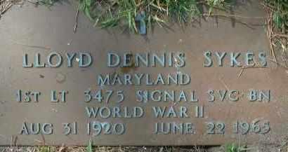 SYKES (VETERAN WWII), LLOYD DENNIS - Sarasota County, Florida | LLOYD DENNIS SYKES (VETERAN WWII) - Florida Gravestone Photos