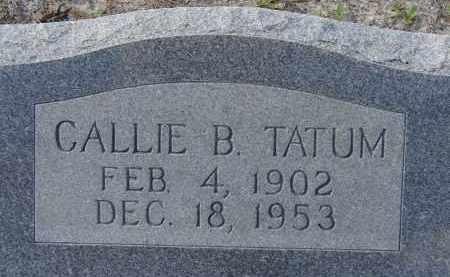 TATUM, CALLIE B. - Sarasota County, Florida | CALLIE B. TATUM - Florida Gravestone Photos