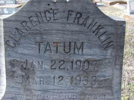 TATUM, CLARENCE FRANKLIN - Sarasota County, Florida   CLARENCE FRANKLIN TATUM - Florida Gravestone Photos