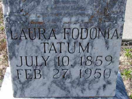 TATUM, LAURA FODONIA - Sarasota County, Florida   LAURA FODONIA TATUM - Florida Gravestone Photos