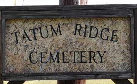 *TATUM RIDGE, SIGN - Sarasota County, Florida | SIGN *TATUM RIDGE - Florida Gravestone Photos