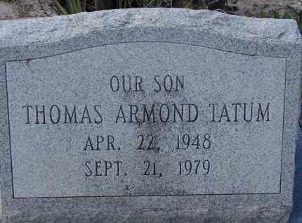 TATUM, THOMAS ARMOND - Sarasota County, Florida | THOMAS ARMOND TATUM - Florida Gravestone Photos