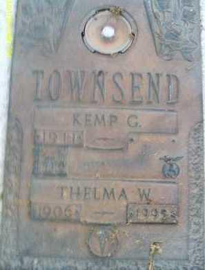 TOWNSEND, THELMA W. - Sarasota County, Florida   THELMA W. TOWNSEND - Florida Gravestone Photos
