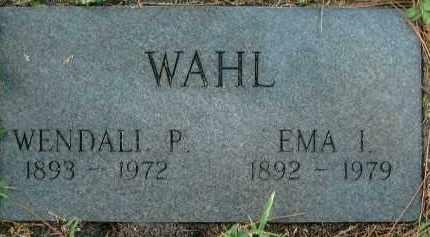 WAHL, WENDALL P. - Sarasota County, Florida | WENDALL P. WAHL - Florida Gravestone Photos