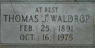 WALDROP, THOMAS J. - Sarasota County, Florida   THOMAS J. WALDROP - Florida Gravestone Photos