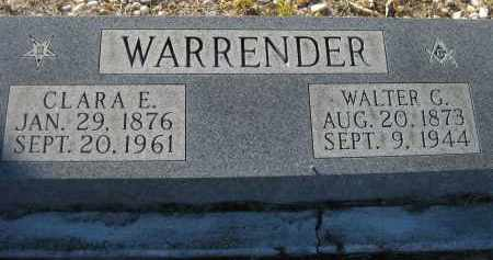 WARRENDER, CLARA ELIZABETH - Sarasota County, Florida | CLARA ELIZABETH WARRENDER - Florida Gravestone Photos