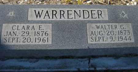 WATKINS WARRENDER, CLARA ELIZABETH - Sarasota County, Florida | CLARA ELIZABETH WATKINS WARRENDER - Florida Gravestone Photos