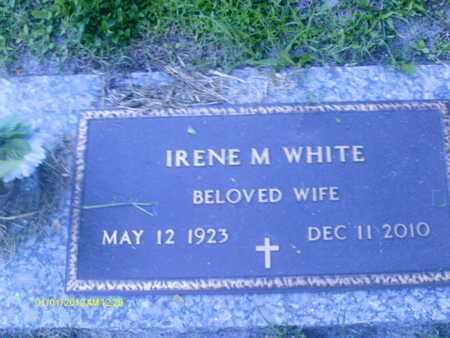 WHITE, IRENE  M - Sarasota County, Florida | IRENE  M WHITE - Florida Gravestone Photos