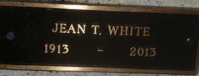WHITE, JEAN T. - Sarasota County, Florida | JEAN T. WHITE - Florida Gravestone Photos