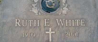 WHITE, RUTH  E. - Sarasota County, Florida | RUTH  E. WHITE - Florida Gravestone Photos
