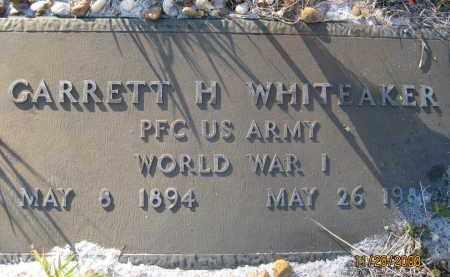 WHITEAKER (VETERAN WWI), GARRETT H (NEW) - Sarasota County, Florida | GARRETT H (NEW) WHITEAKER (VETERAN WWI) - Florida Gravestone Photos