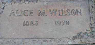 WILSON, ALICE  M. - Sarasota County, Florida   ALICE  M. WILSON - Florida Gravestone Photos