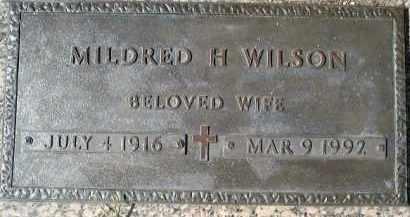WILSON, MILDRED H. - Sarasota County, Florida   MILDRED H. WILSON - Florida Gravestone Photos