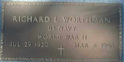 WORTHMAN (VETERAN WWII), RICHARD L. - Sarasota County, Florida | RICHARD L. WORTHMAN (VETERAN WWII) - Florida Gravestone Photos