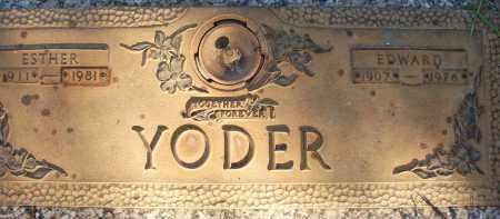 YODER, EDWARD - Sarasota County, Florida | EDWARD YODER - Florida Gravestone Photos