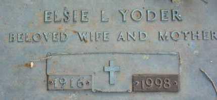 YODER, ELSIE L. - Sarasota County, Florida   ELSIE L. YODER - Florida Gravestone Photos