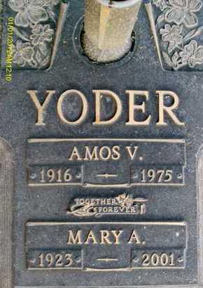 YODER, MARY A. - Sarasota County, Florida | MARY A. YODER - Florida Gravestone Photos
