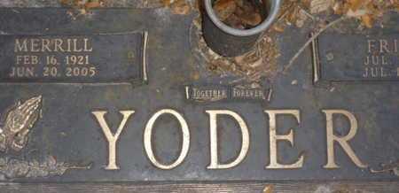 YODER, MERRILL - Sarasota County, Florida | MERRILL YODER - Florida Gravestone Photos