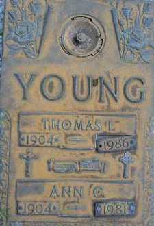 YOUNG, ANN C. - Sarasota County, Florida   ANN C. YOUNG - Florida Gravestone Photos